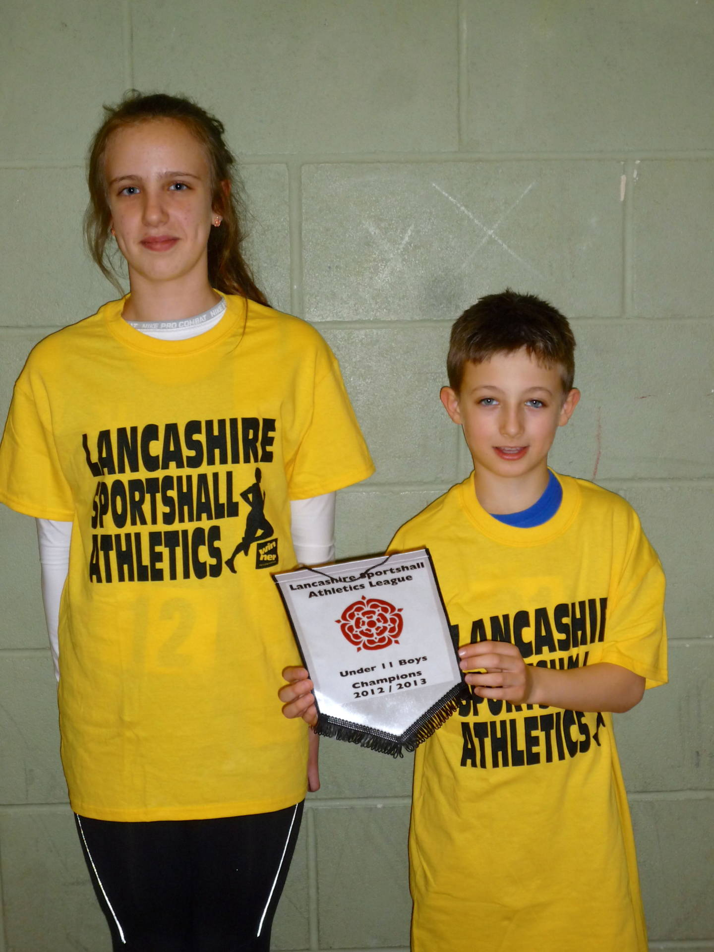 Sportshall U11 Athlete of Match Feb 2013 Charlotte Williams & Soloman Brown