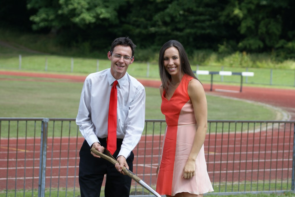 Councillor Damian Talbot with Olympic Silver Medalist Samantha Murray