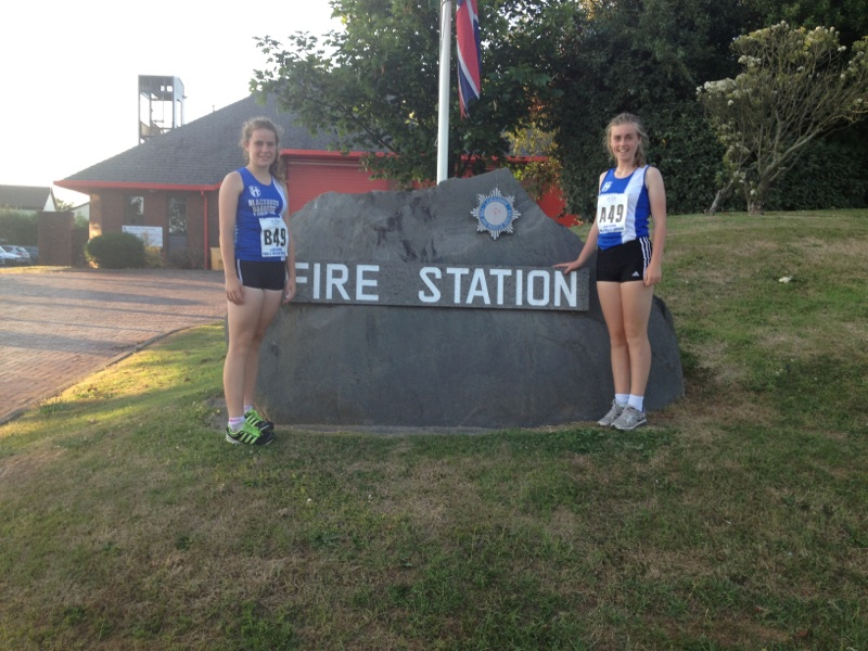 Brenna McPartland and Olivia Wilson at the Fire Service Relays