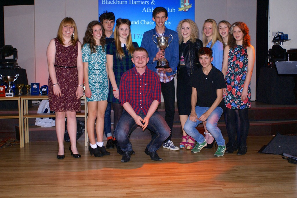 Some of the members of the U17/U20 Squad accepting the Round Chase Trophy