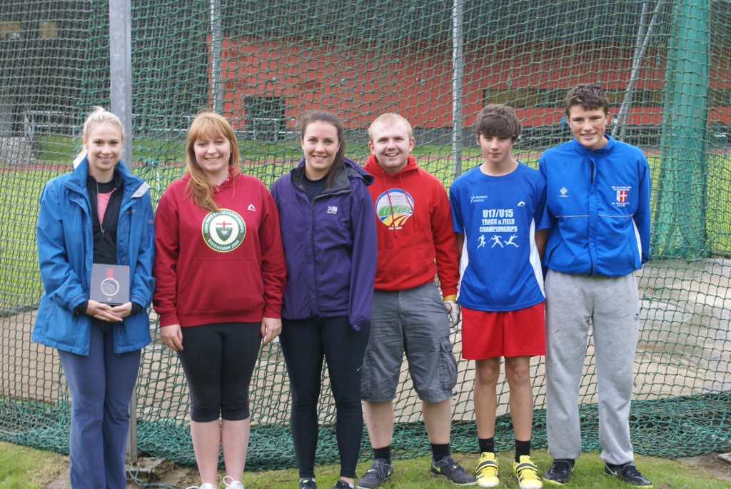 Sophie with other members of the Harriers Hammer Squad