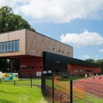 Blackburn Harriers and Athletics Club clubhouse and track