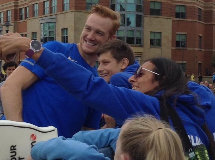 With Greg Rutherford