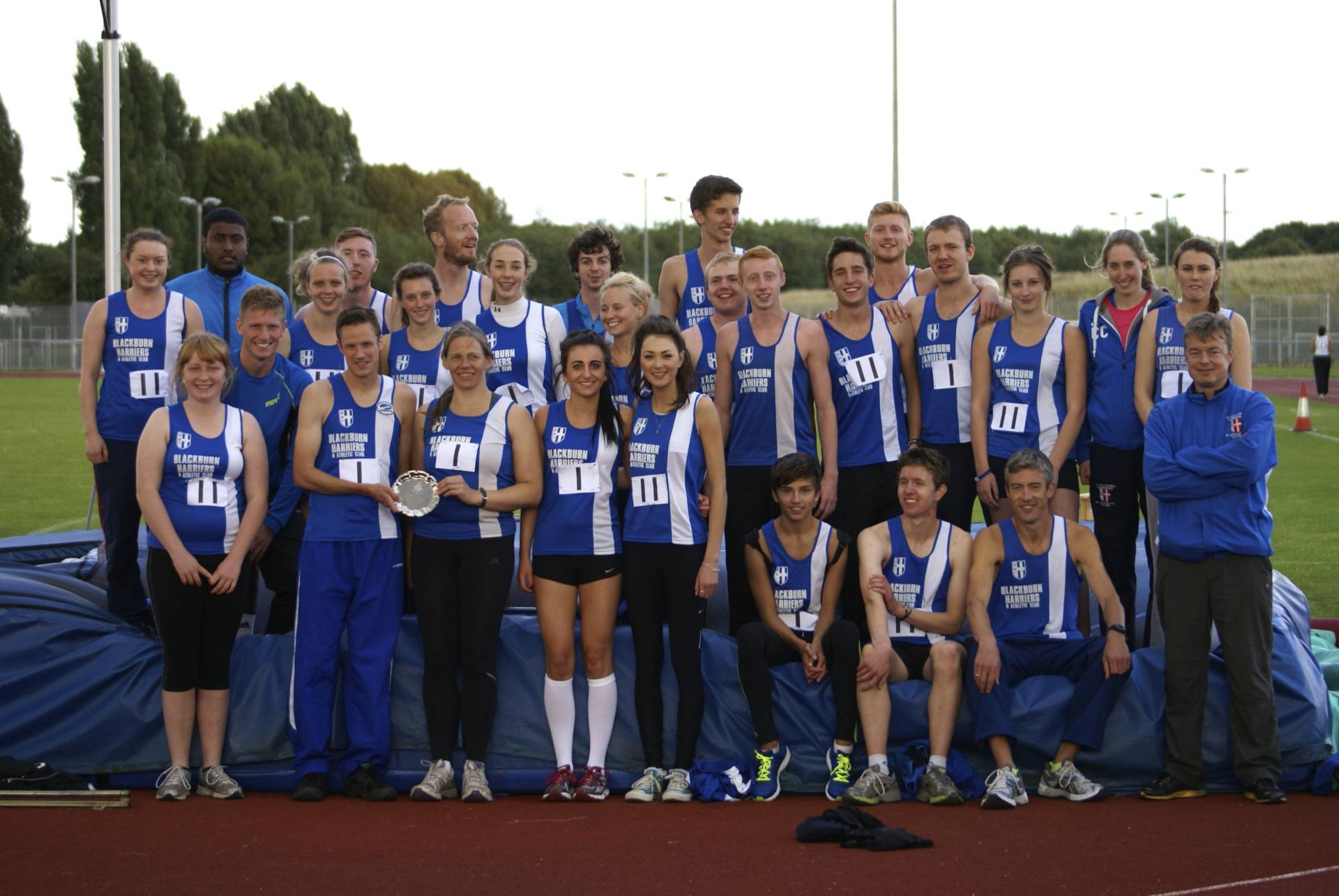Undefeated Blackburn Harriers Northern T & F Team in 2013 – Promoted to Division One as Champions