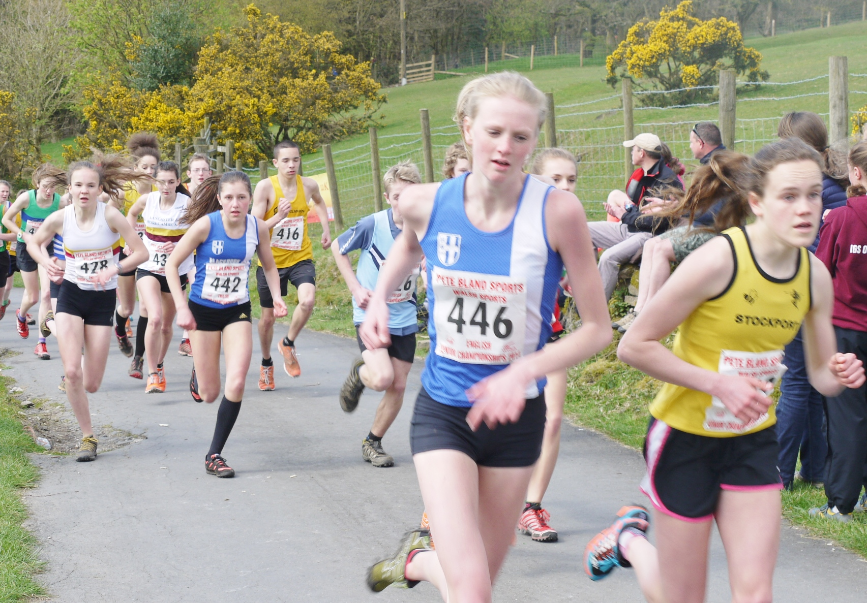 English Junior Fell Championship Races at Rivington Pike