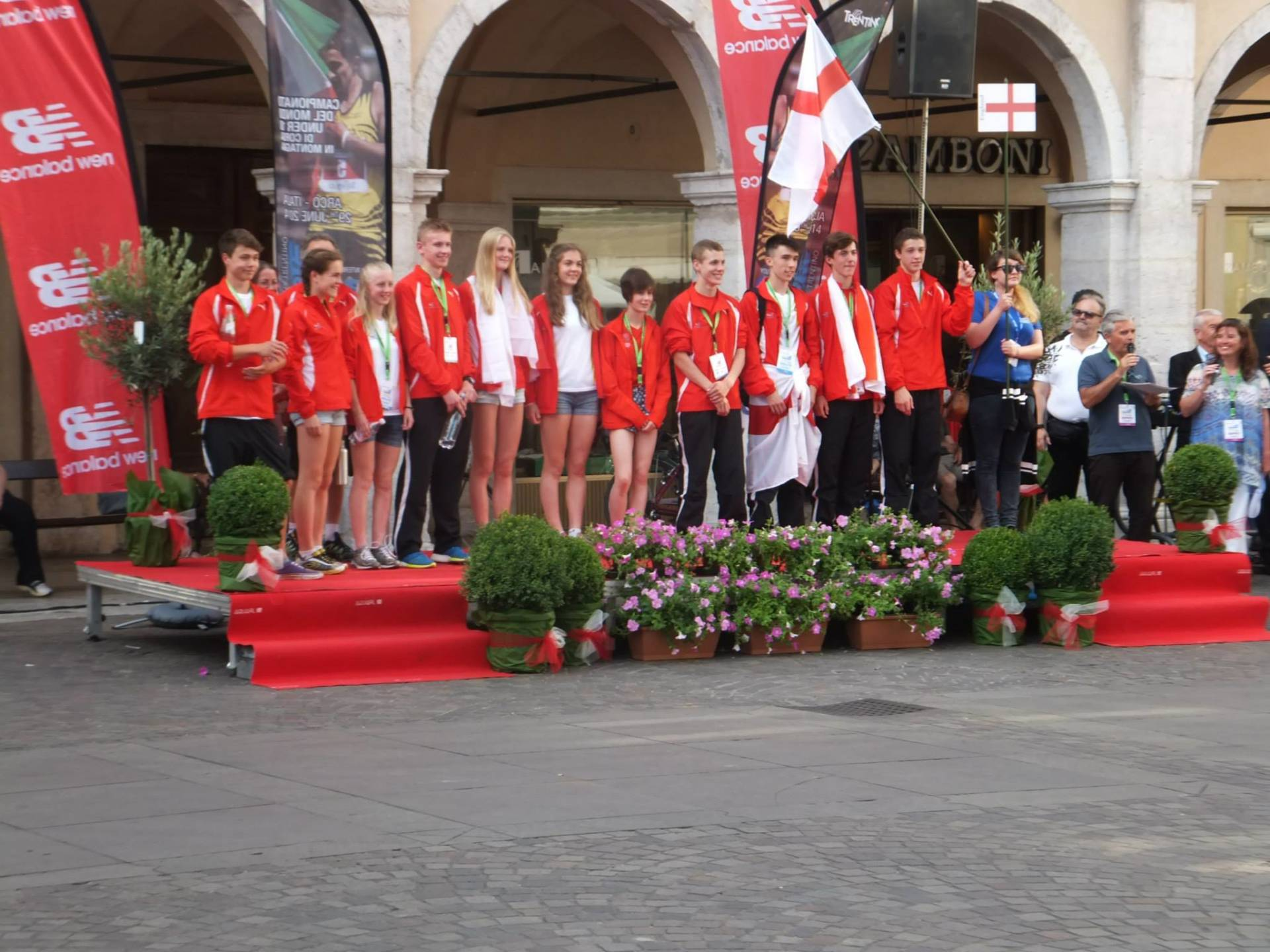 Jack and Liz competing for England in Italy