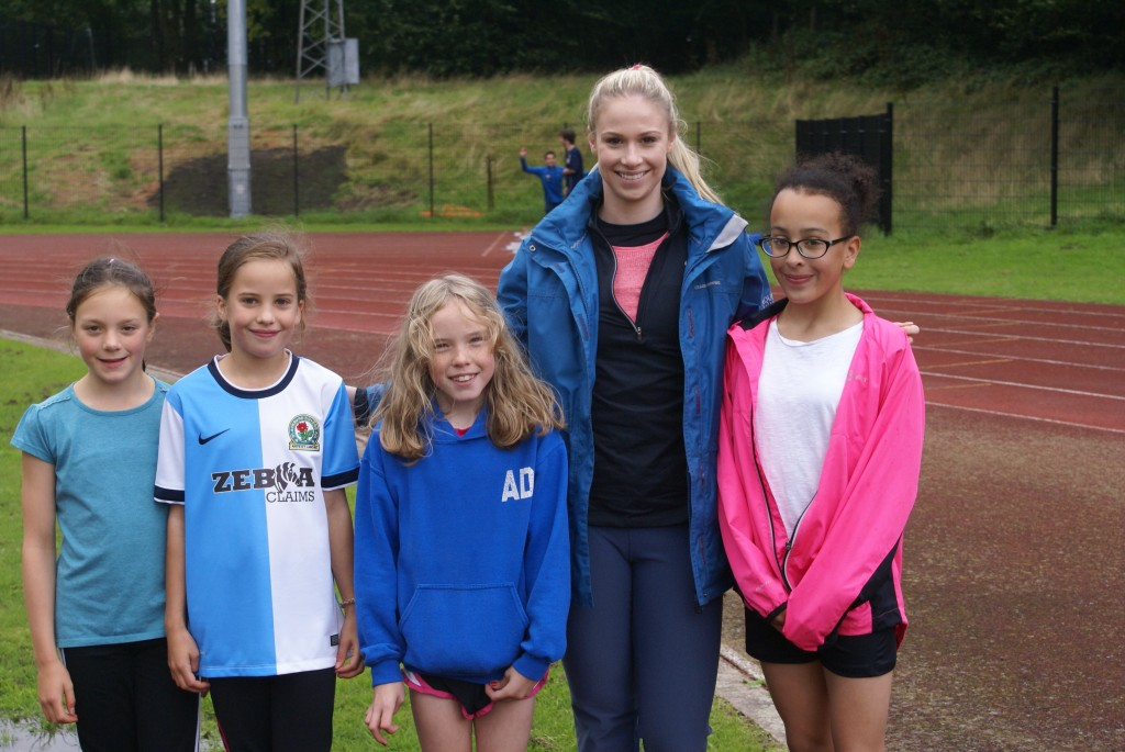 Sophie with some of the Junior Athletes
