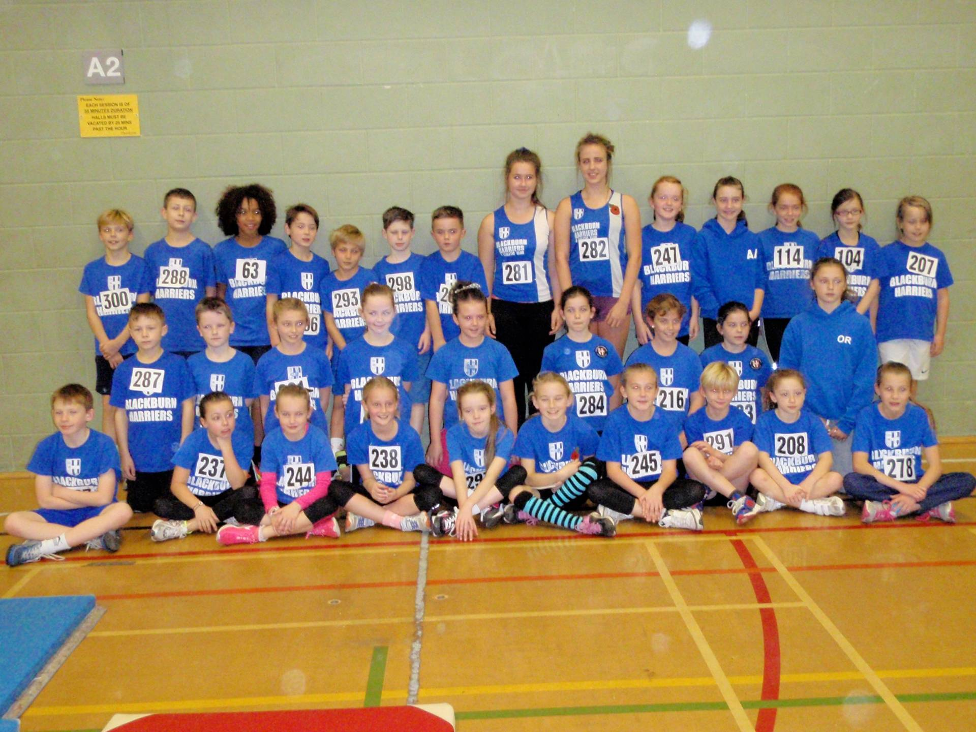 Harriers youngsters shine at Blackpool Sportshall……