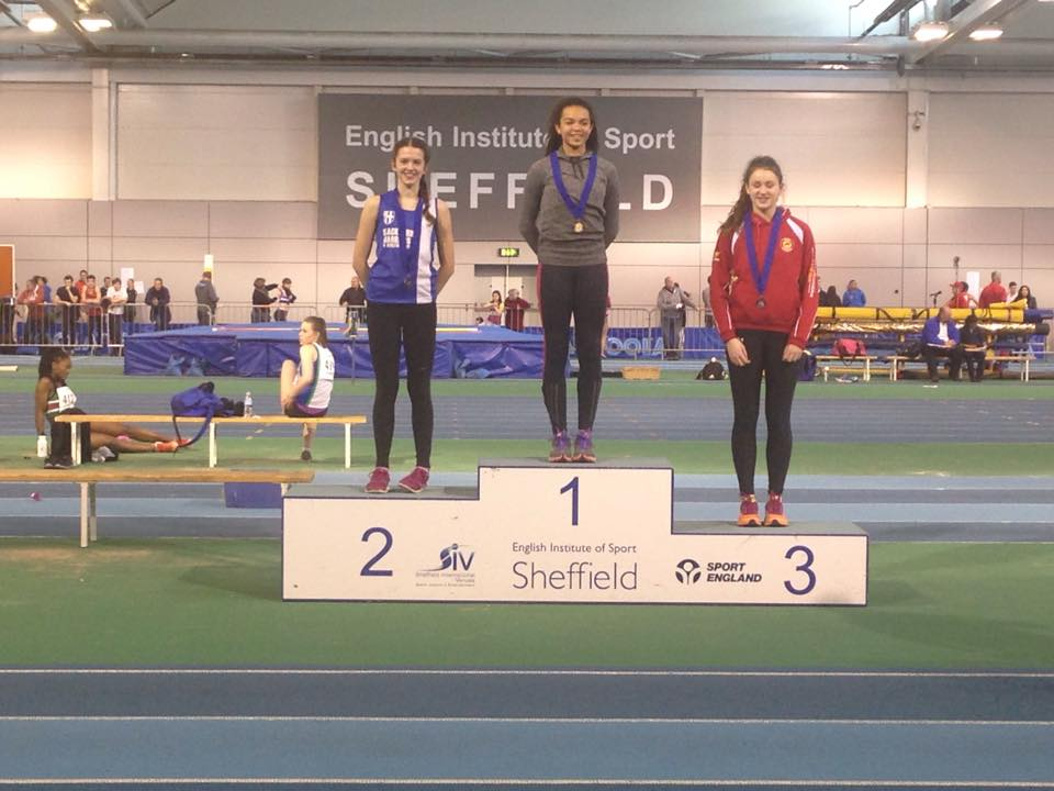 Club Record for Morgan and Medals for the Harriers at Northern Indoor Championships