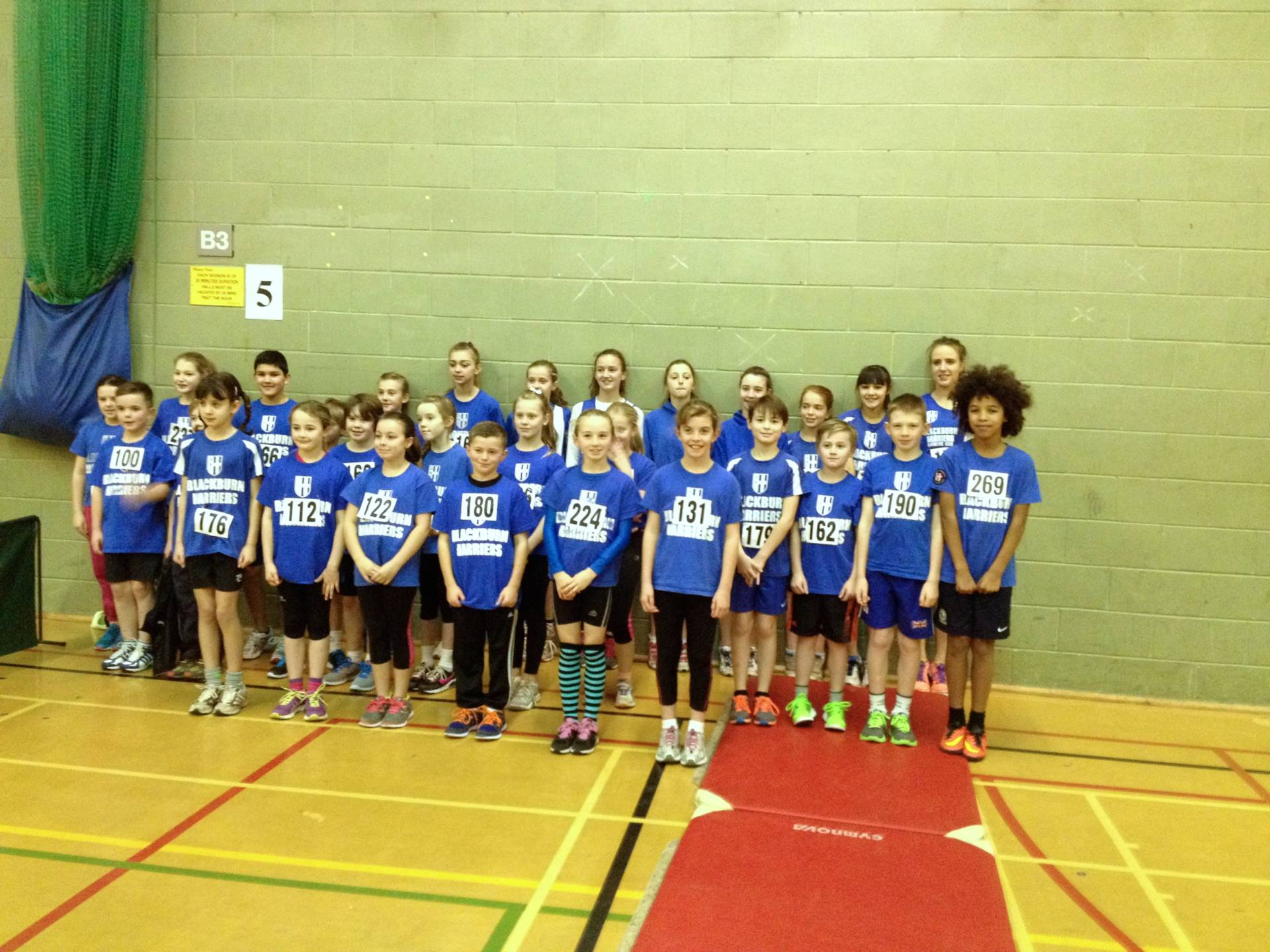 Harriers youngsters shine at Blackpool Sportshall and win County Vests