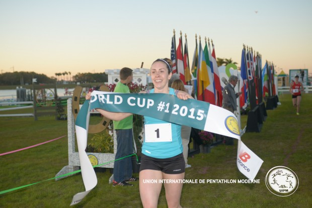 Samantha's on top of the World in the Modern Pentathlon