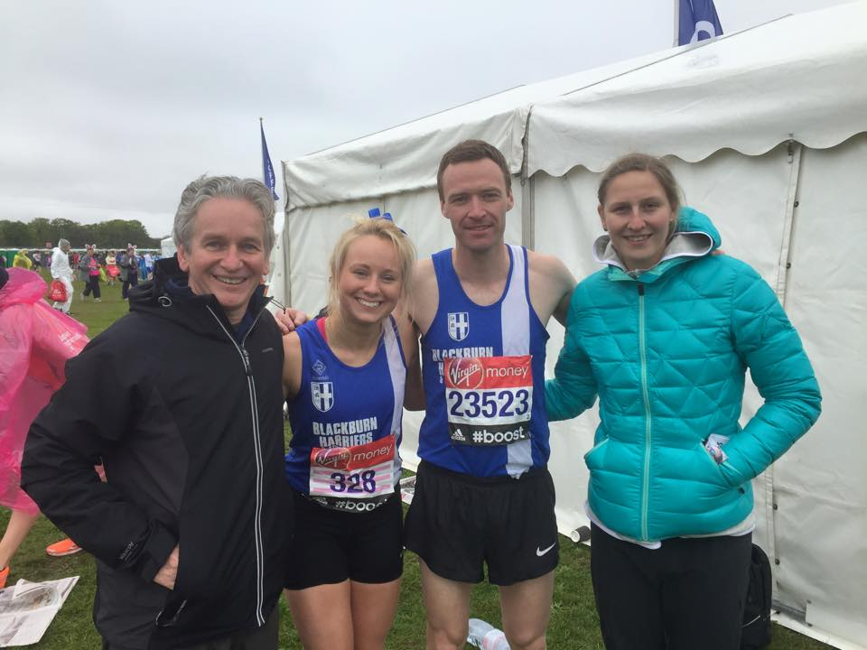The Harriers down at the London Marathon