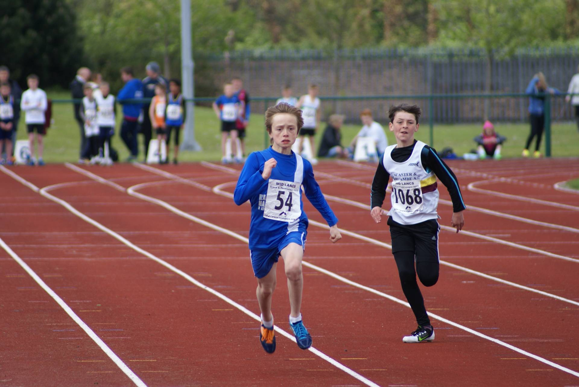 Mid Lancs T & F League and 16 new PB's for the Harriers young athletes