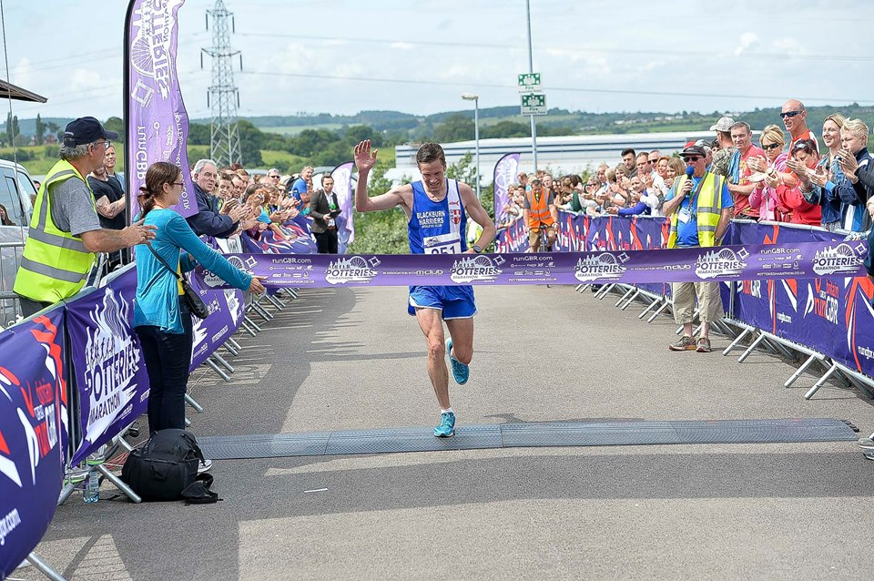 Ben Fish wins Potteries Marathon – Trawden 7 – Astley Park with the youngsters – Tockholes Evening Race and Harrogate 10k