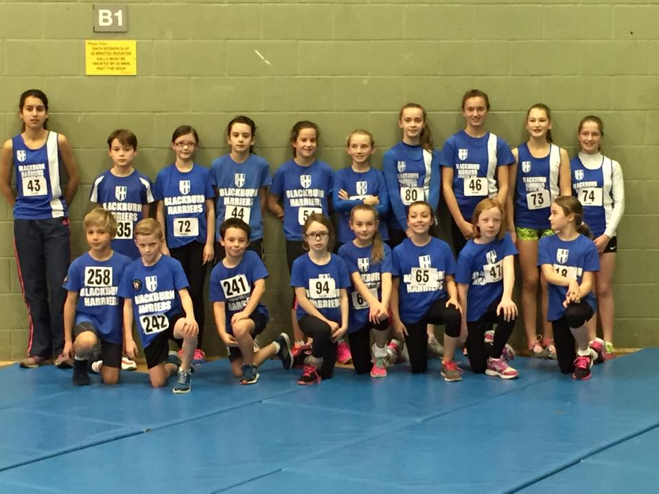 Good start for Blackburn Harriers youngsters at first Sportshall Competition