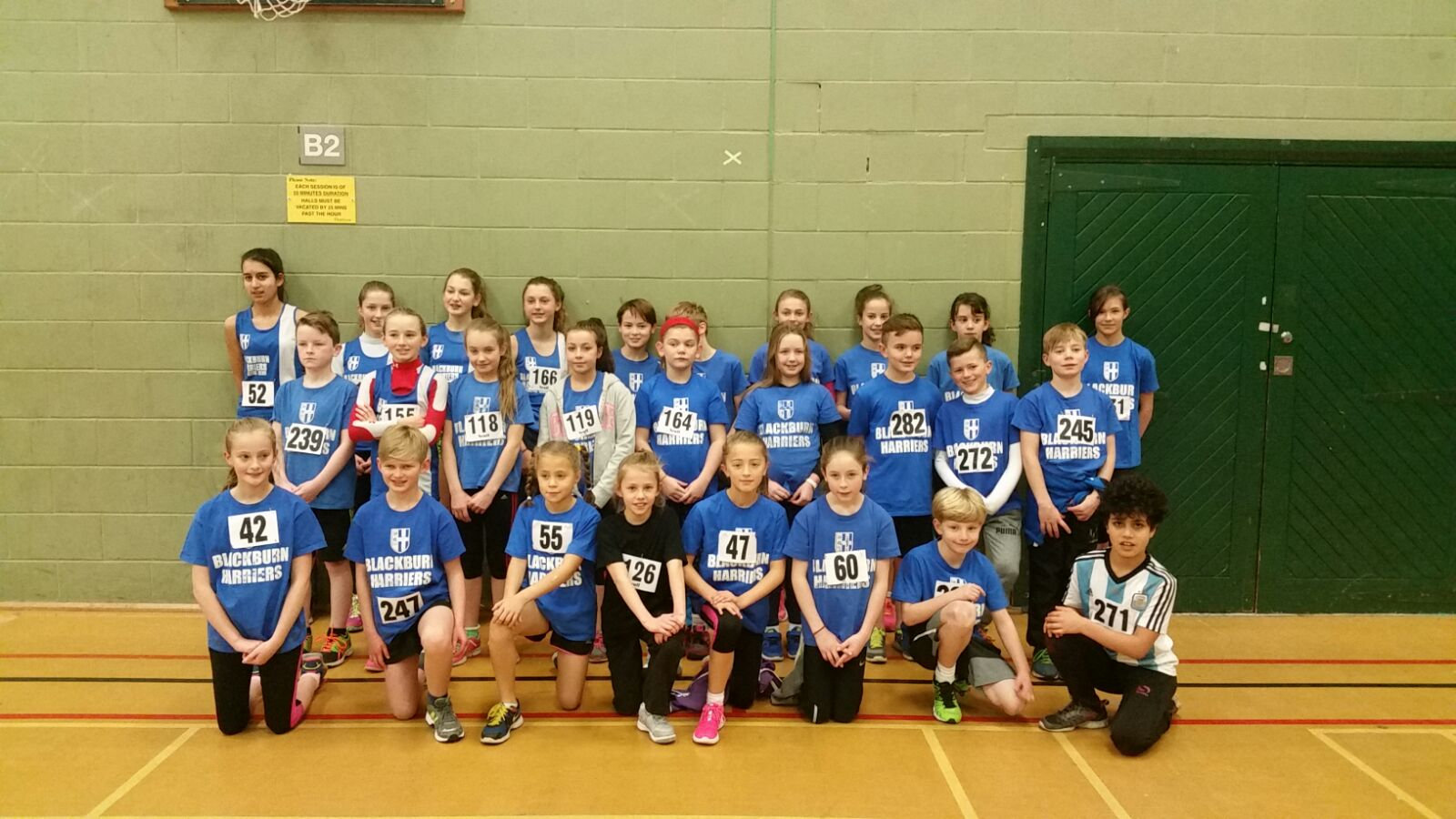 Harriers youngsters shine again at Sportshall Competition in Blackpool