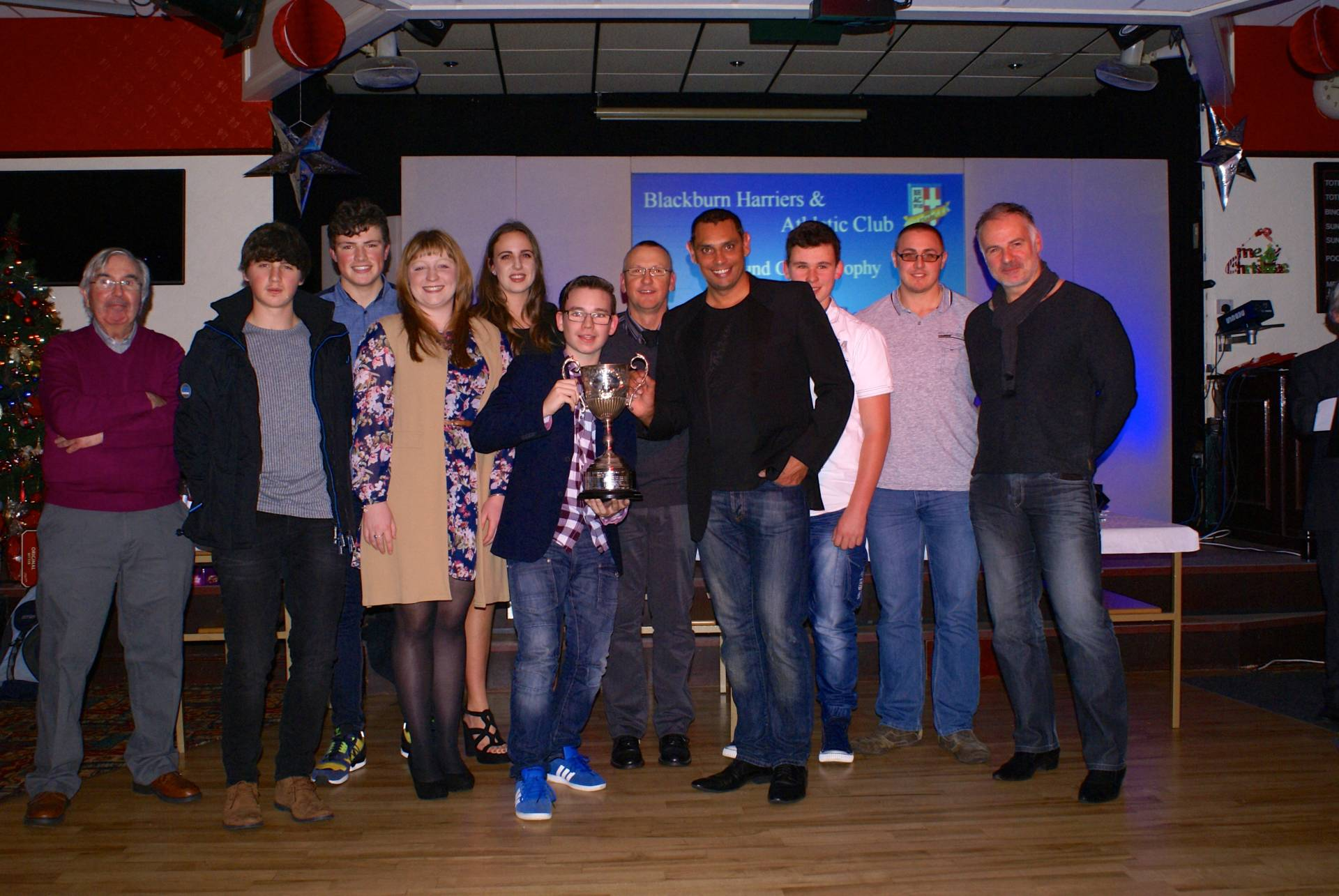 Harriers Athletes celebrate their achievements at the Annual Presentation Evening