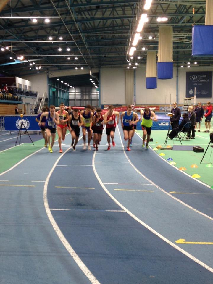 Indoor PB's & Seasons Bests at Sportscity and Cardiff for Harriers Athletes