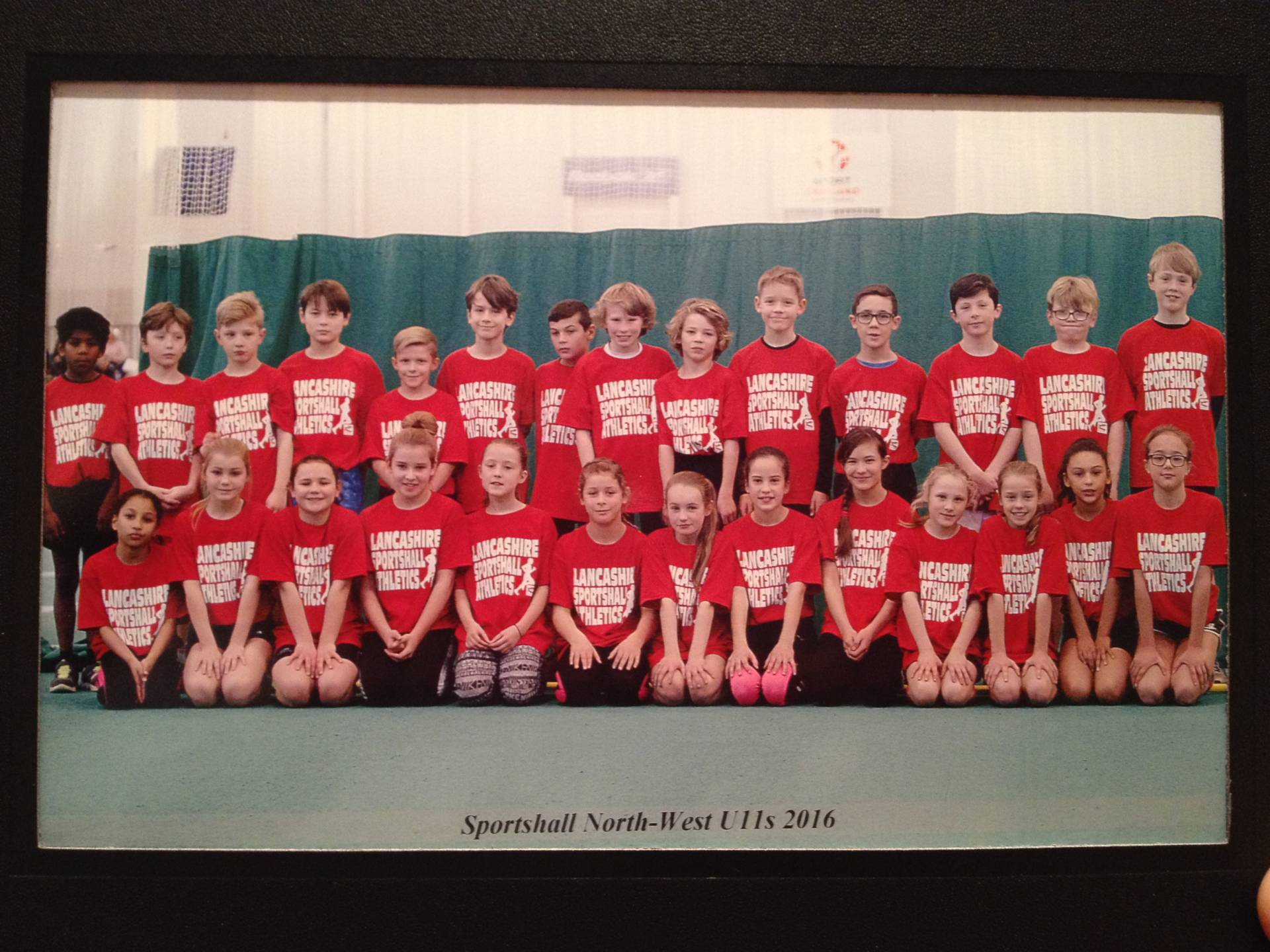 PB's and SB's for Cameron and Josh at Sportscity – Harriers youngsters represent Lancashire in Sportshall