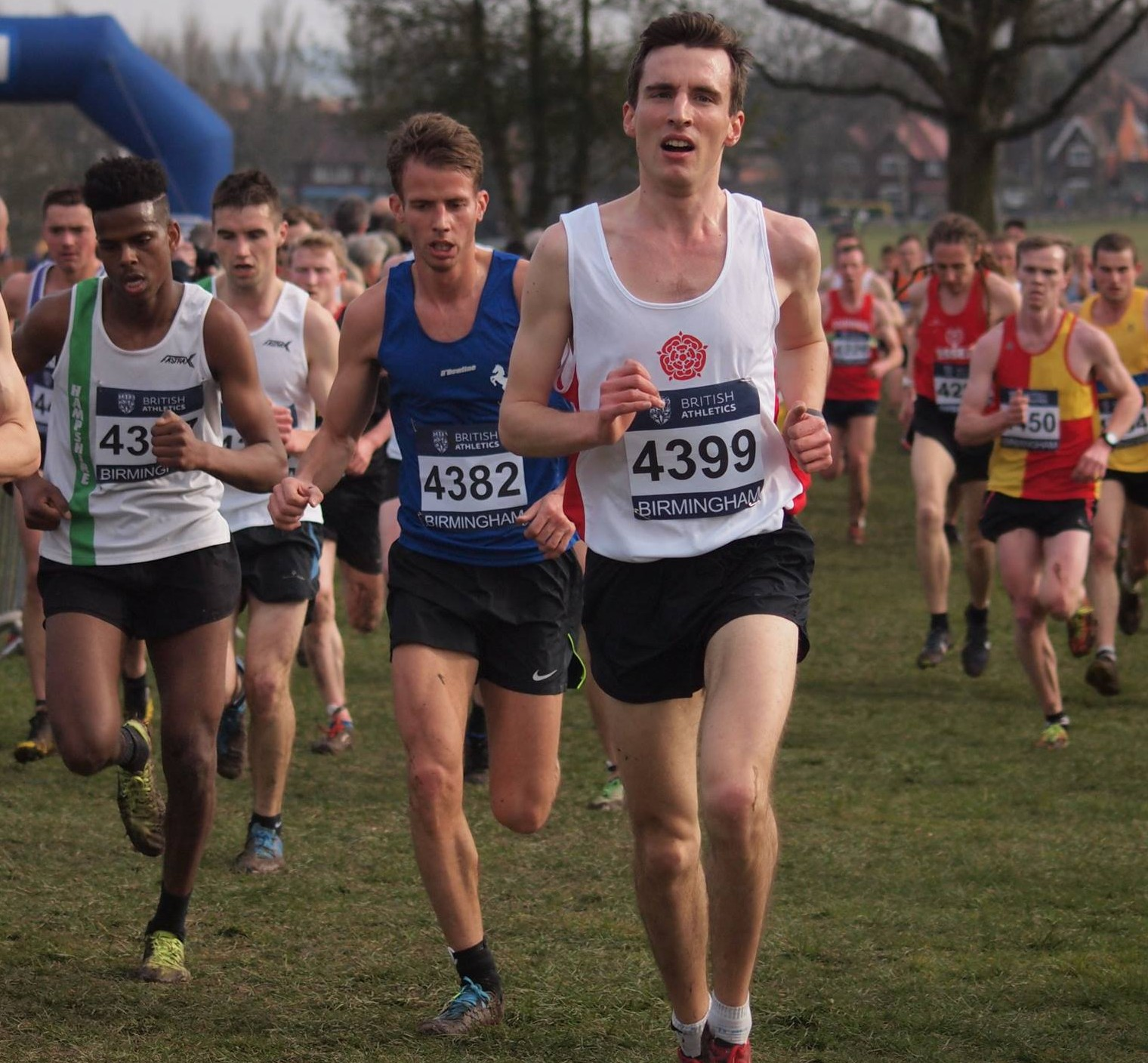Blackburn Harriers athletes Running for Lancashire at Inter-Counties Championships