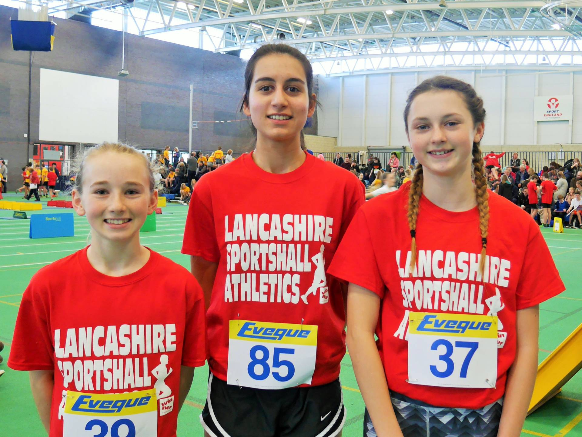 Harriers Girls compete for Lancashire in Sportshall Regional Final