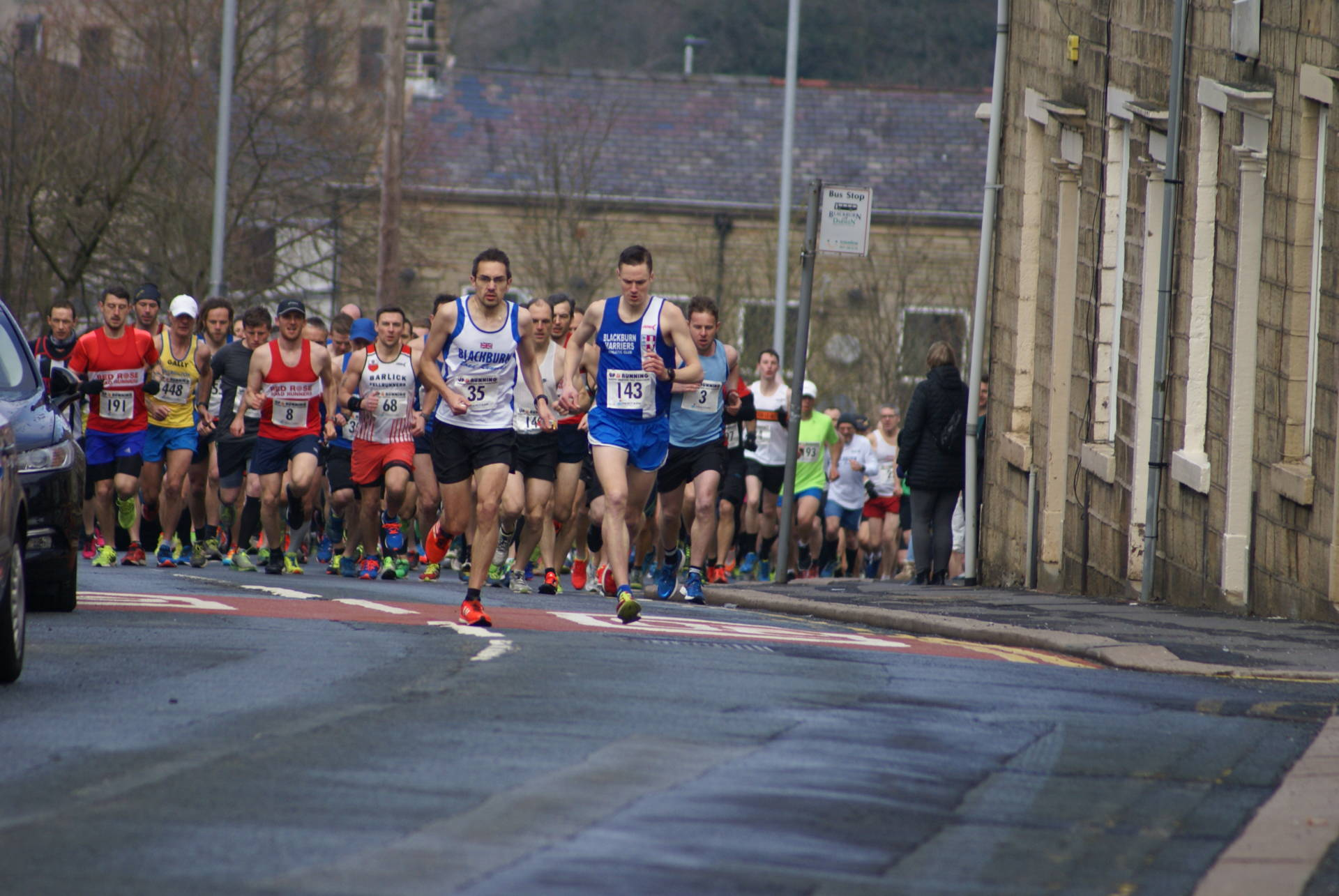 Ben Wins Darwen Half-Marathon and Harriers win the Team Prize – Andy misses the Club Record by seconds – Pendle Hill and Lanhydrock