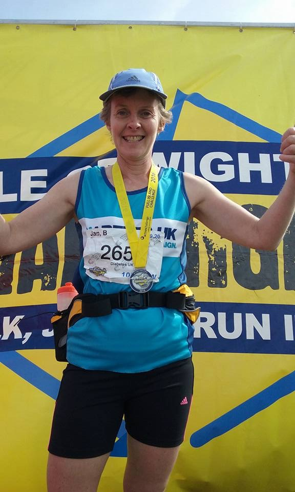 Jan completes the Isle of Wight Ultra Challenge and raises a lot of money for Diabetes UK