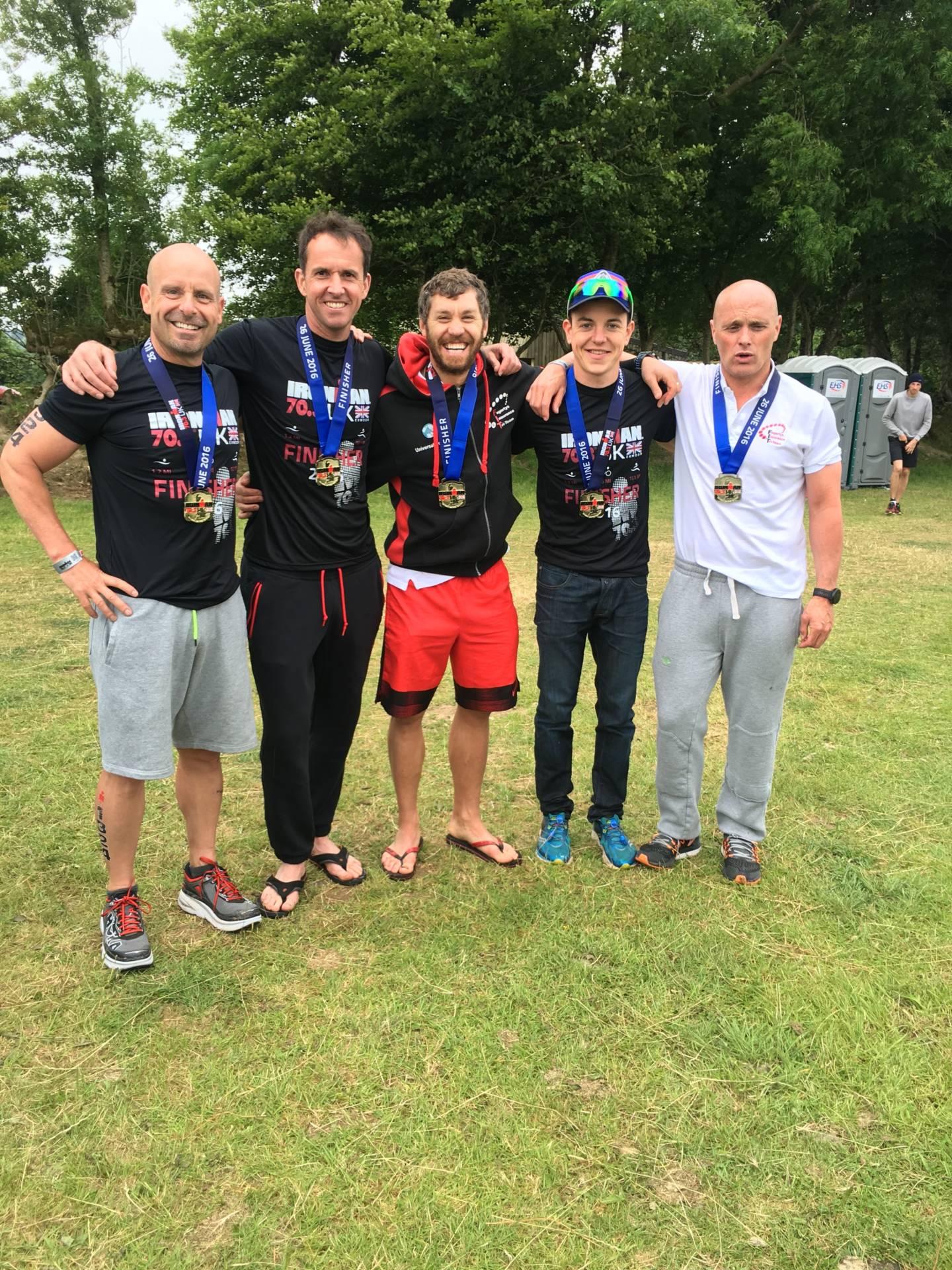 Brian just misses the Podium at Exmoor Ironman – Shaun Wins Lancaster Half-Marathon – Mark Wins V40 at Lakes Triathlon