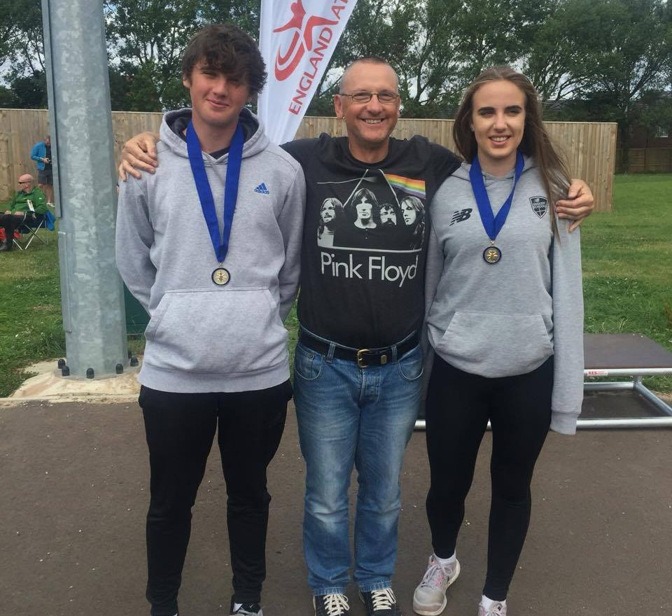 Gold and Bronze Medals & Championship Record at the Northern U15 / U17  T & F Championships for the Harriers