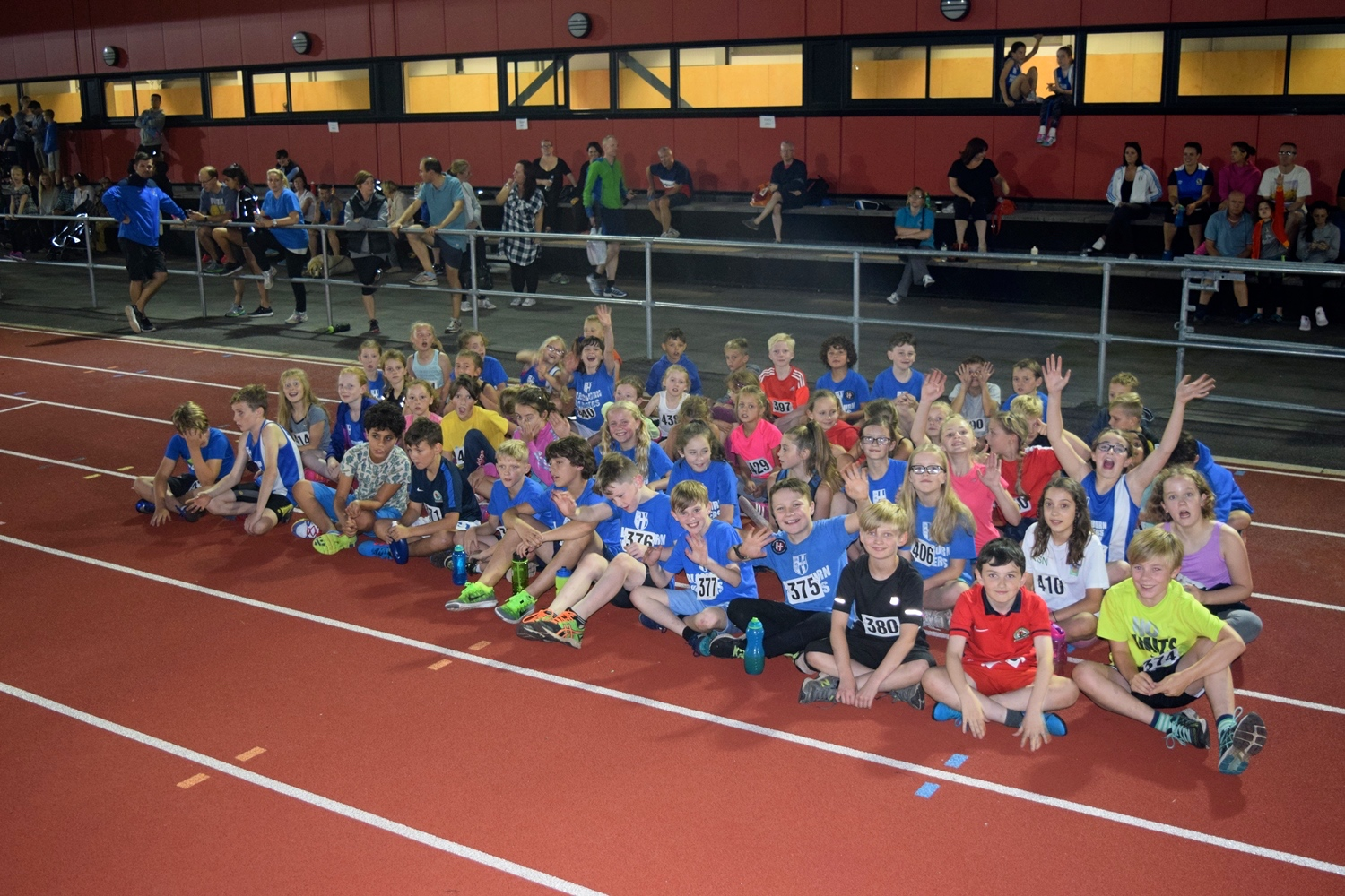 Harriers Sportshall youngsters shine in Quadrathlon