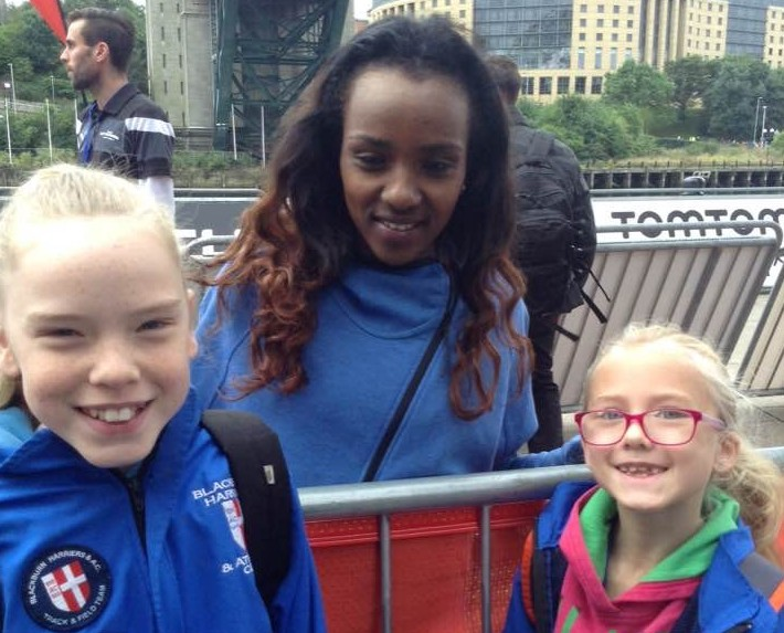 With Turunesh Dibaba