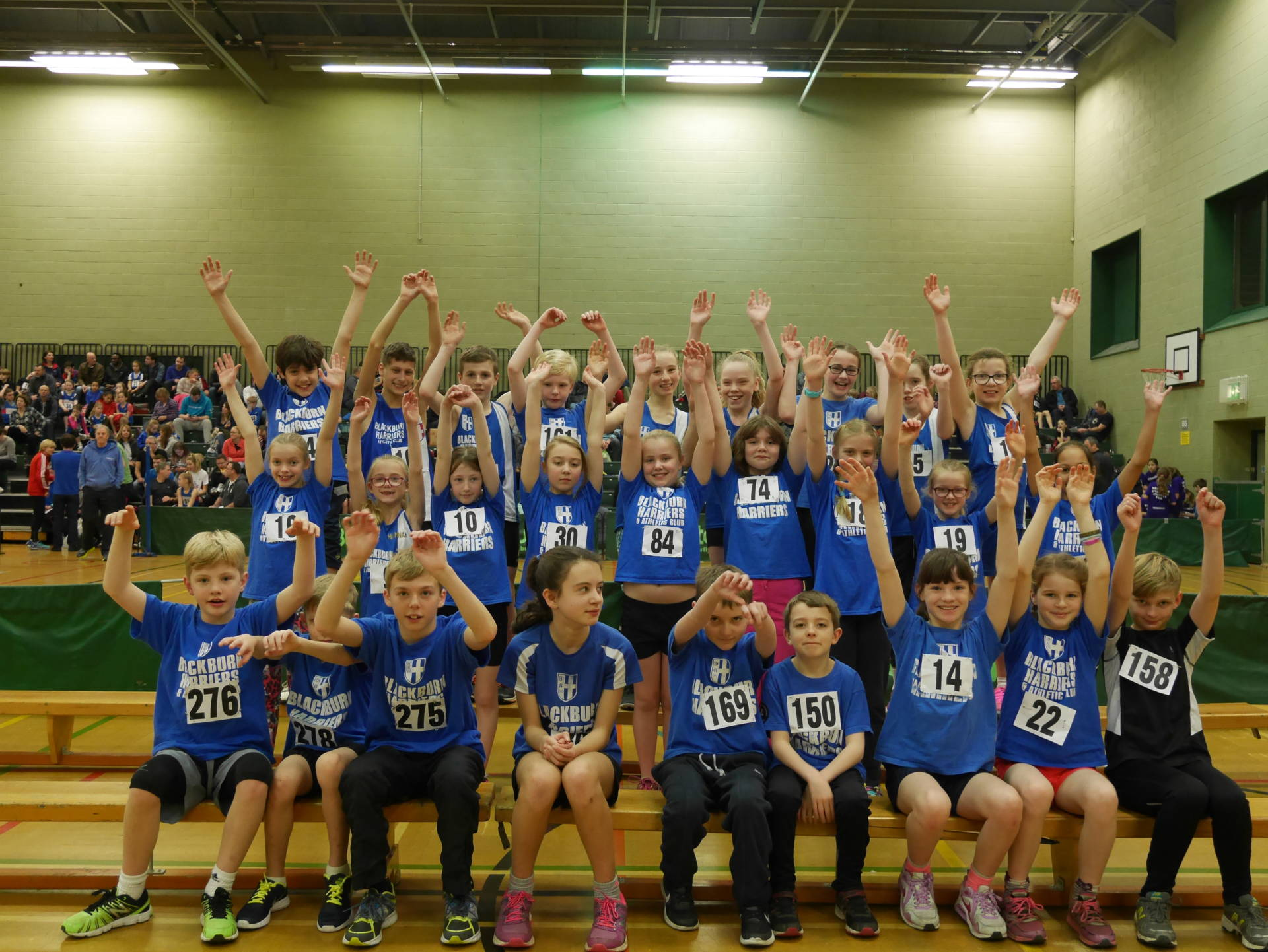 Harriers youngsters shine again in Sportshall Competition