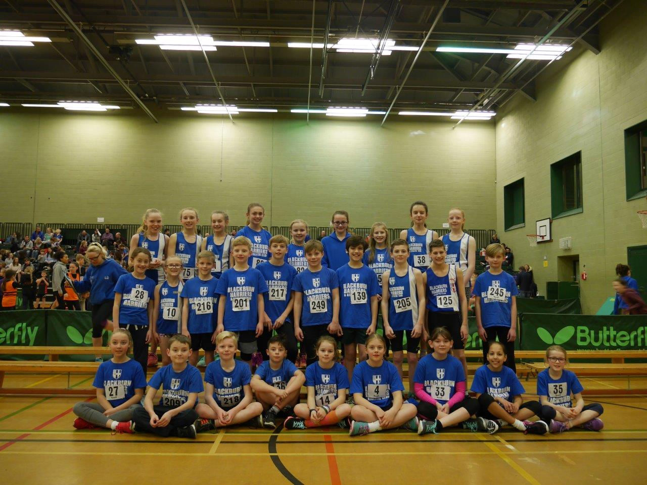 Harriers Sportshall Squad have a great season taking 3rd place in the League