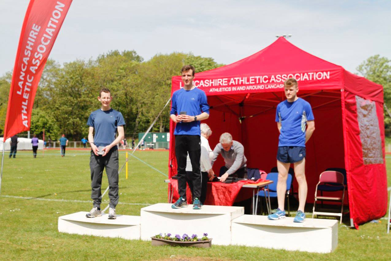 Harriers win Twenty Three Gold, Eighteen Silver, eight Bronze Medals & set Forty Four PB's at Lancashire T & F Championships