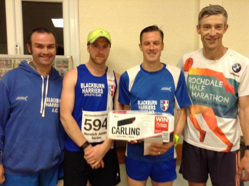 Another win for Ben and Chris wins the Series at Horwich – Tim sets new 1500m PB at Trafford