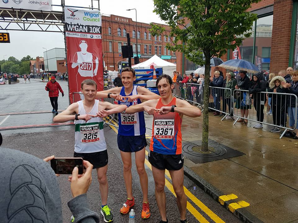 Joe wins Wigan 10k & Carmen 2nd — Rachel wins Cheshire 20 — Tony wins Gold at BMAF Championships — John sets Ben Nevis PB — Litherland Open Meeting