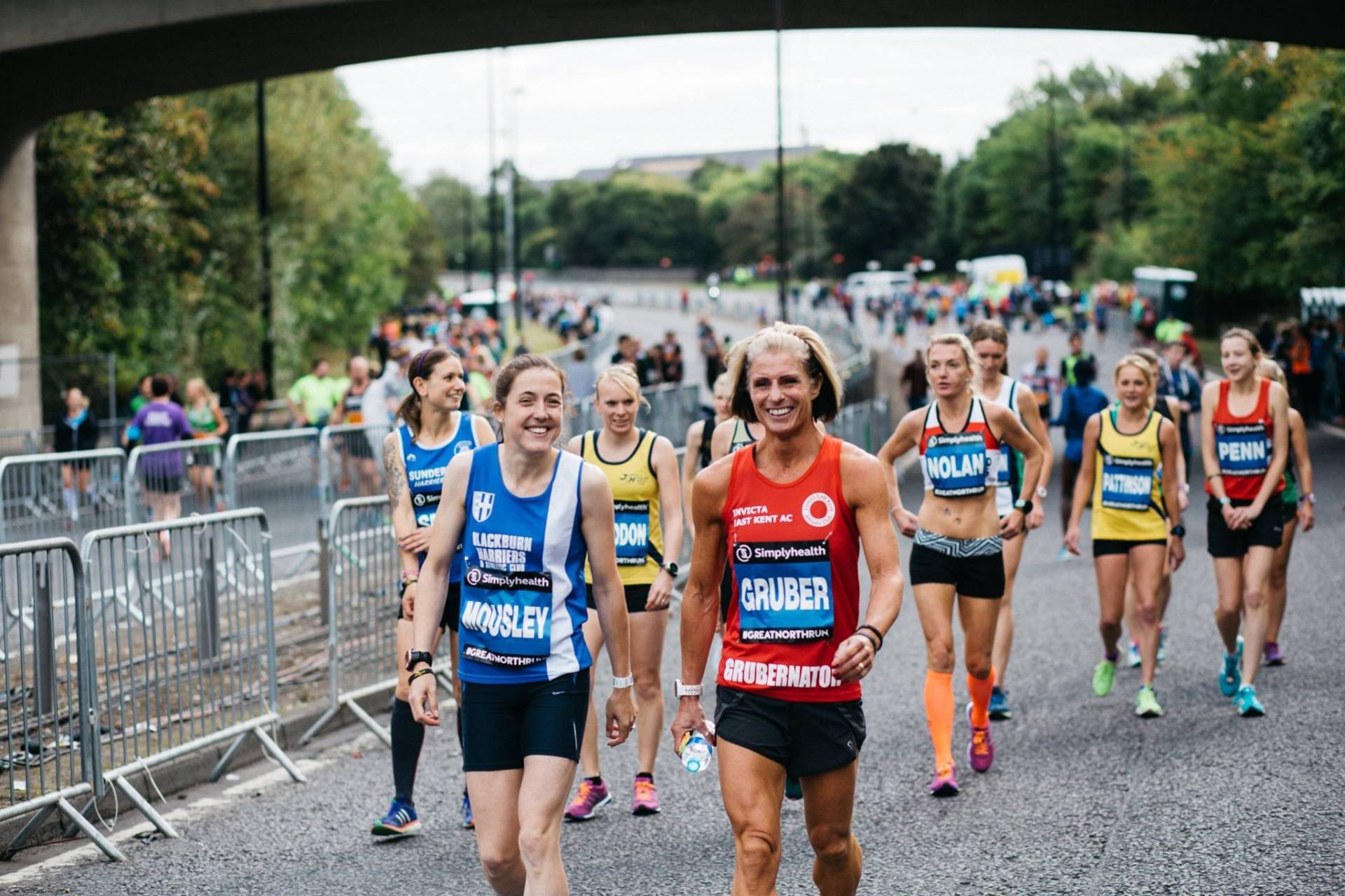 Great North Run with Victoria – Throwers competing in Liverpool & Wigan – Wins & PB's at Blackpool Open Meeting – Mark runs the Yorkshireman