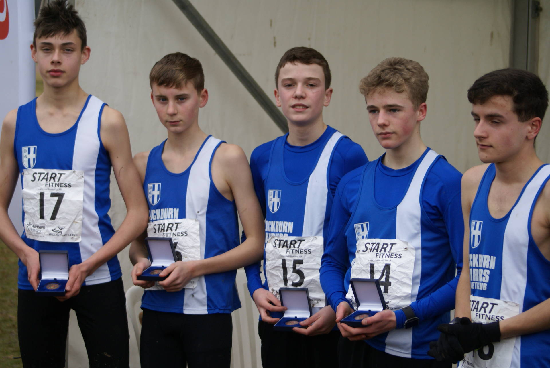 U15 Boys on the Podium at Northern Cross Country Championships – Top Ten for Senior Men & U13 Boys – V40 Win for Joanne