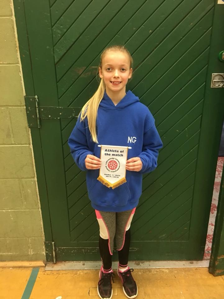 Niamh Wins Athlete of the Match for the U11's at Sportshall League Fixture