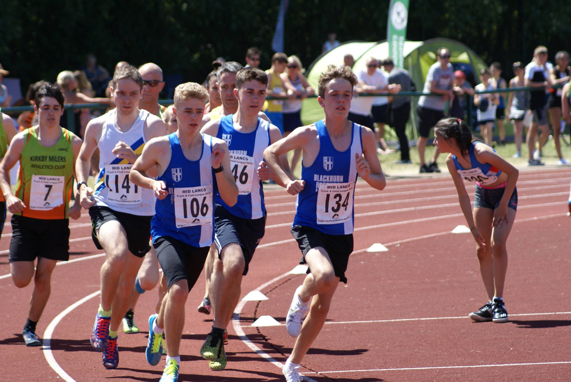 English Schools qualification for Harriers – Mid Lancs T &F League at Litherland – Harriers Win Team at Astley Park – John & Thomas in top 5 at Stoodley Pike – John 2nd at Cuerden 10k – Don Ashton Memorial Race – Skiddaw Fell Race – Trailblaster