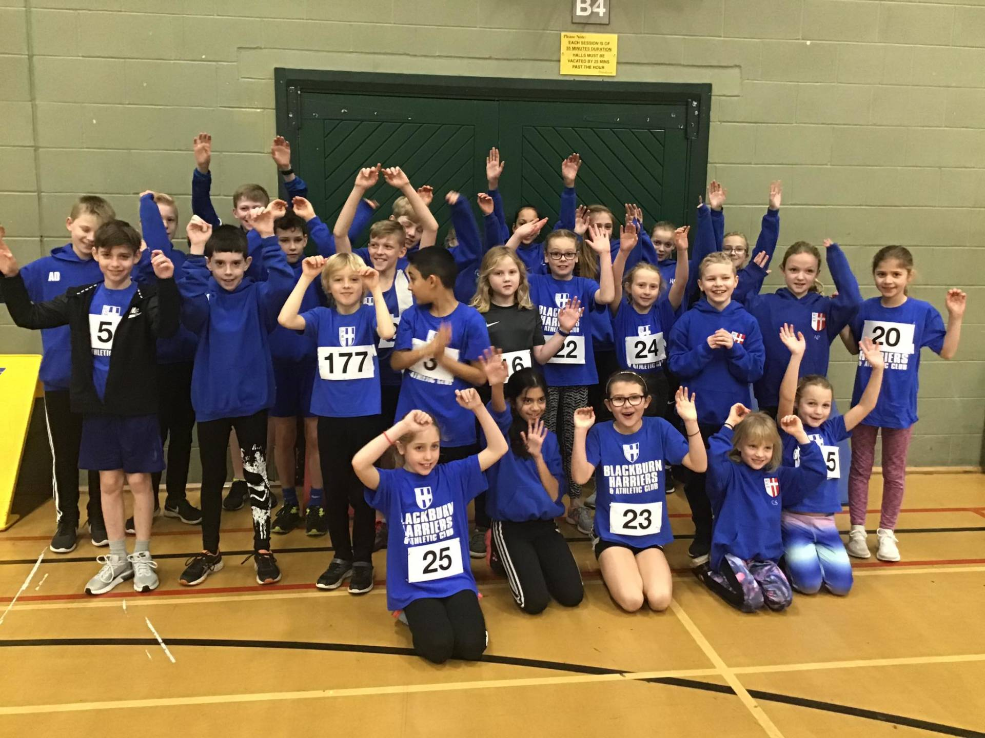 Blackburn Harriers Sportshall Squad shine in Lancashire Sportshall League with Harrison winning Athlete of the Match