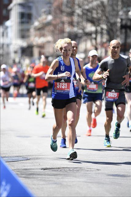 Rachel 7th British Woman at Boston Marathon – Salford 10k – Paul Wins vets at Caldervale 10m – Top 10 for Tom at Rivington – John & Matt at Newlands Fell Race