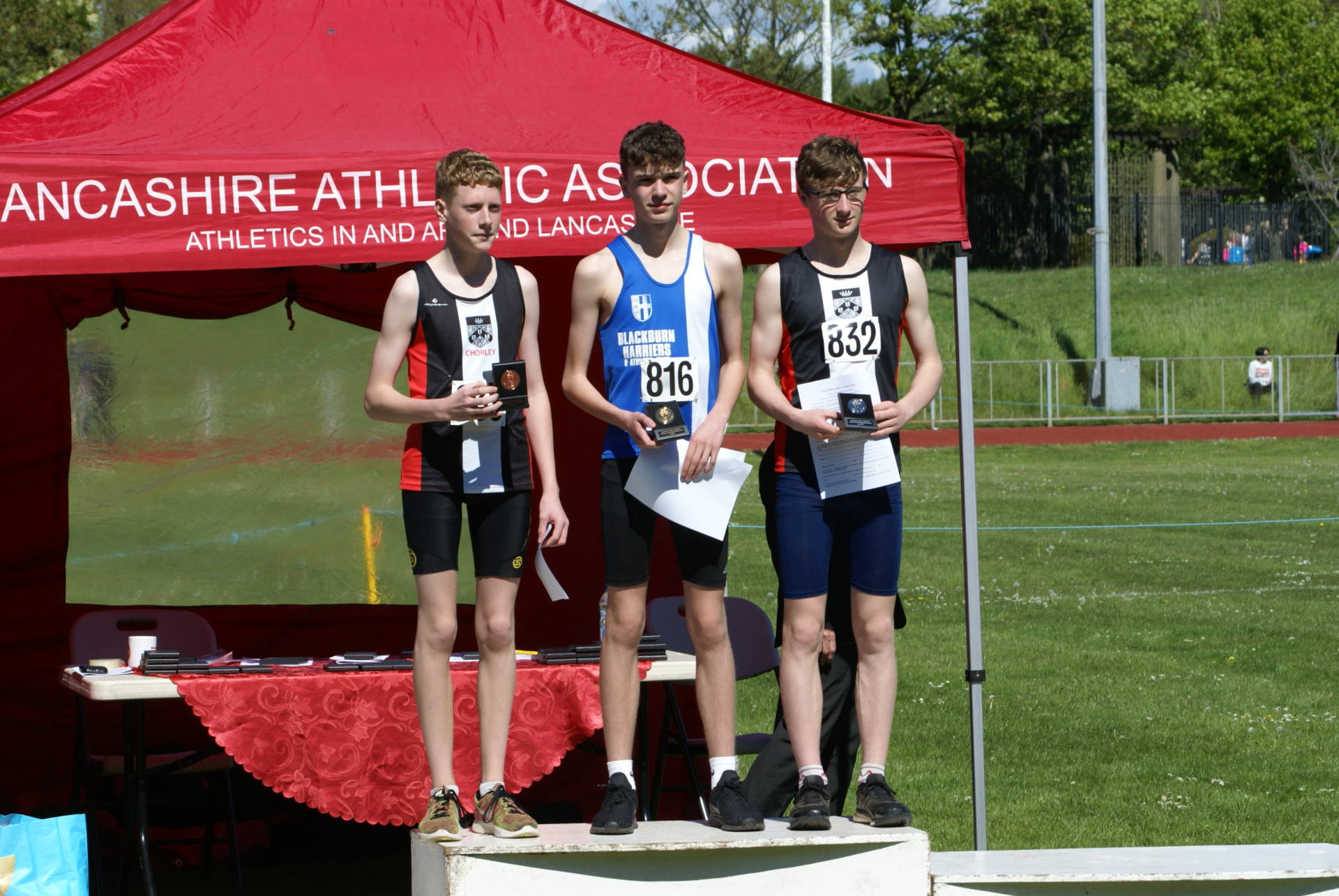 46 Medals and 43 New PB's at Lancs Champs for Harriers – BMC with Alison – Ben Wins Pinhaw – Tom represents Lancashire at Inter-Counties Fell Championships – Top 3 for Paul at Chorley 10k -John Chaplin 1st V60 at Haigh Hall – Andrew takes on Majorca Half-Ironman – Junior Aquathon/Duathlon