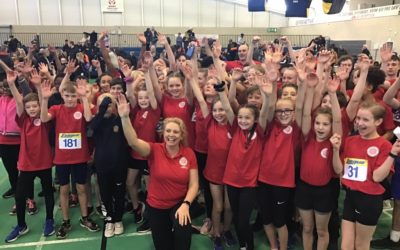 Blackburn Harriers youngsters representing Lancashire at Regional Sportshall Championships