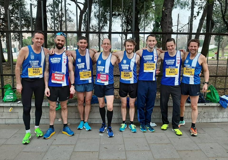 Harriers on Tour – New PB's for Karl and Jonny in Barcelona – Tony Wins V60 5k Category in Miami 5k – Rachael Wins Valentines 10k