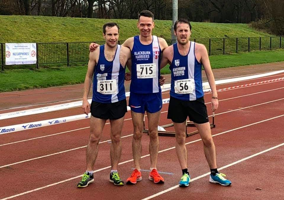 Wins for Karl & Victoria at Winter Warmer 10k – Top ten for Rob & Annabel at Alsagar 5 – Jess 2nd at Bucs XC Champs and Team Gold – Lancashire Inter-Counties Team Announced – On the Fells with the Harriers