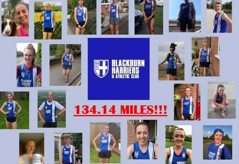 Blackburn Harriers Women's Relay Event runs over 200k