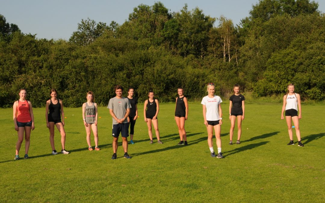 Wednesday evening training – with surprise guests – Hannah Nuttall & Max Wharton