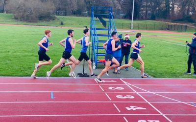 Racing back at the Witton Park Track for Blackburn Harriers