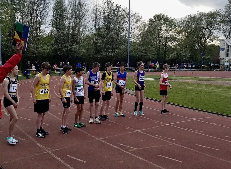 Blackburn Harriers young athletes @ Trafford May Day Open Meeting